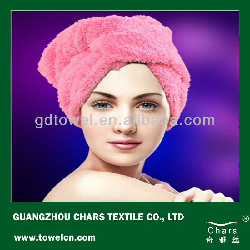 Super dry microfiber hair wrap towel has existing goods