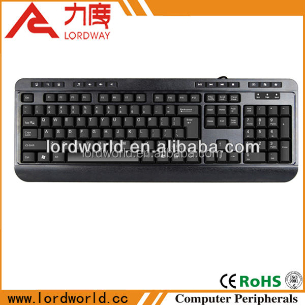 Alibaba China Well Know Manufacturer Multimedia Wired Keyboard of notebook keyboard