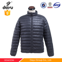 Navy men's puffy jacket softshell coats winter jacket man ultral thin down garment snow parka man Jacket