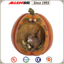 "8.3"" squirrel decorated artificial pumpkin for 2015 Thanksgiving decor"