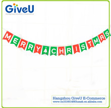GiveU DIY Craft Christmas Decor Merry Christmas Paper Letter Banner for XMAS Party Decoration