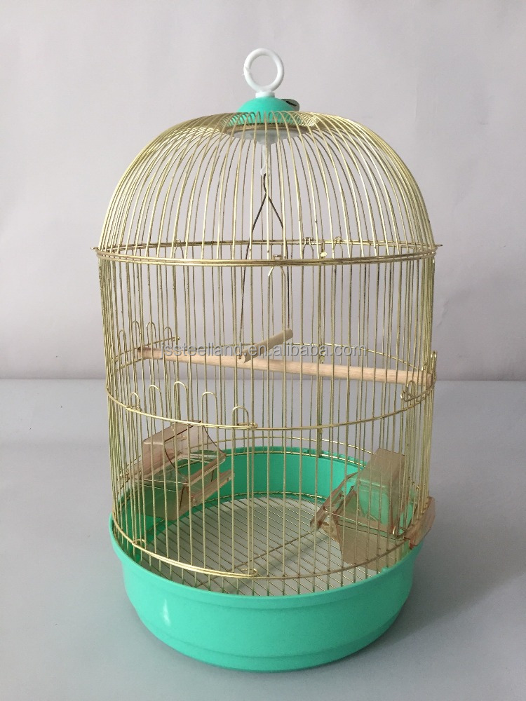 hot sales round gold bird cage DIA.33X56.5CM small bird cages