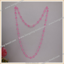 Plastic Bead Necklace 8mm Cut Pink Necklace Luminous for Party Decorate Export USA Eco-friendly Meterial Factory Direct