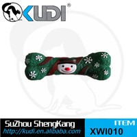 Merry Christmas gift snowman pet chew vinyl bone XWI010