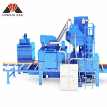 MAYFLAY Steel Plate Surface Automatic Pre-Treatment Line / Roller Type Shot Blasting Machine / Wheel Blasting Machine
