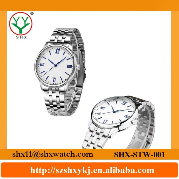 Classical design and delicate handwork stainless steel back watch man