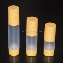 15ml 30ml 50ml bamboo cosmetic packaging airless as bottle for cream