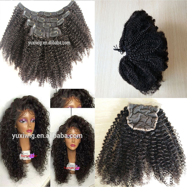 On Stock afro puff kinky curly hair for braiding 4b-4c natural unprocessed brazilian virgin remy Hair Weave