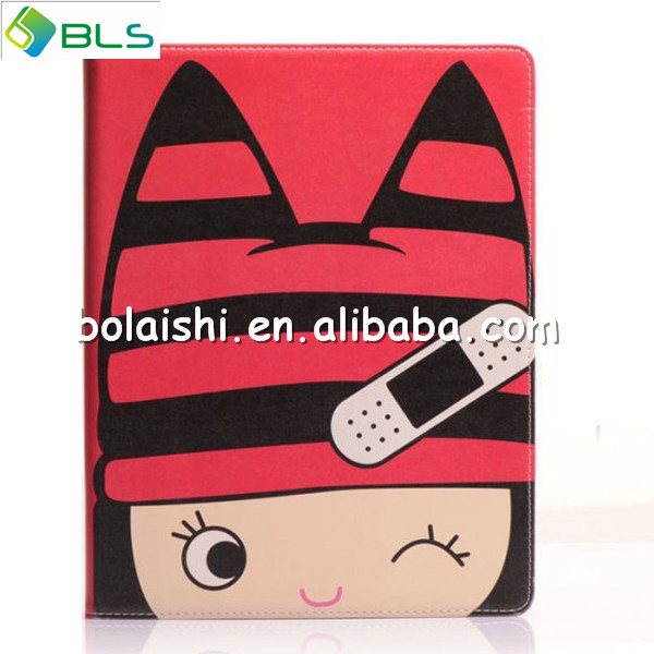 wallet flip cartoon case for ipad air,hello kitty leather case cover for ipad air