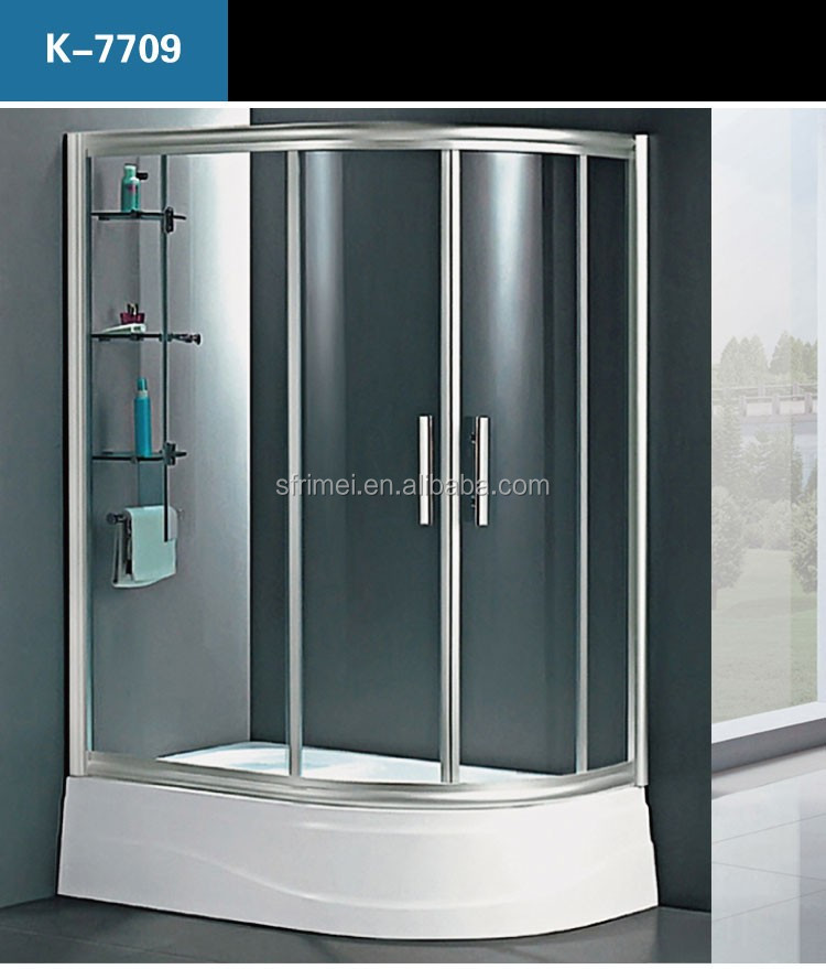 Guangzhou Aluminium Alloy frame Half Round Security Cabins Shower Enclosure With Frame