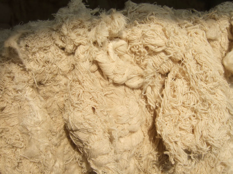 100% cotton yarn waste