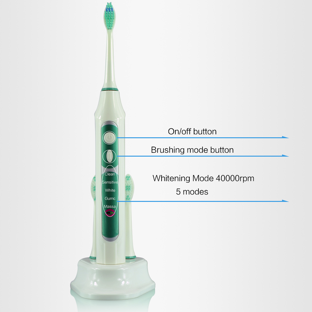 Adult recharging waterproof sonic electric toothbrush