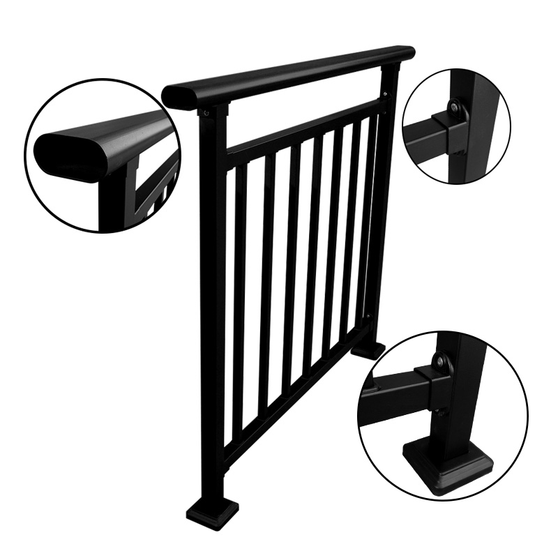Outdoor Metal Stair Railing, Wrought Iron Hand Railings