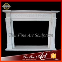 Hot Sale Decorative White Marble Fireplace Surround