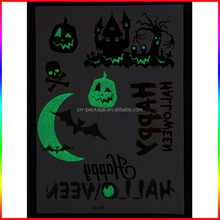 Halloween late Night party glow in the dark temporary body tattoo sticker