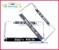 CAR license frame made by chrome