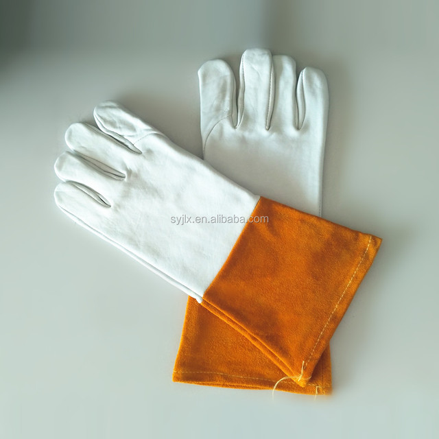 Goat grain leather welding glove long welding gloves