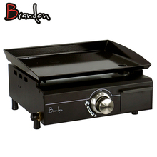 OPP Black Brandon Table Top Commercial Industrial Gas Plancha Grill Gas Grill For Restaurants