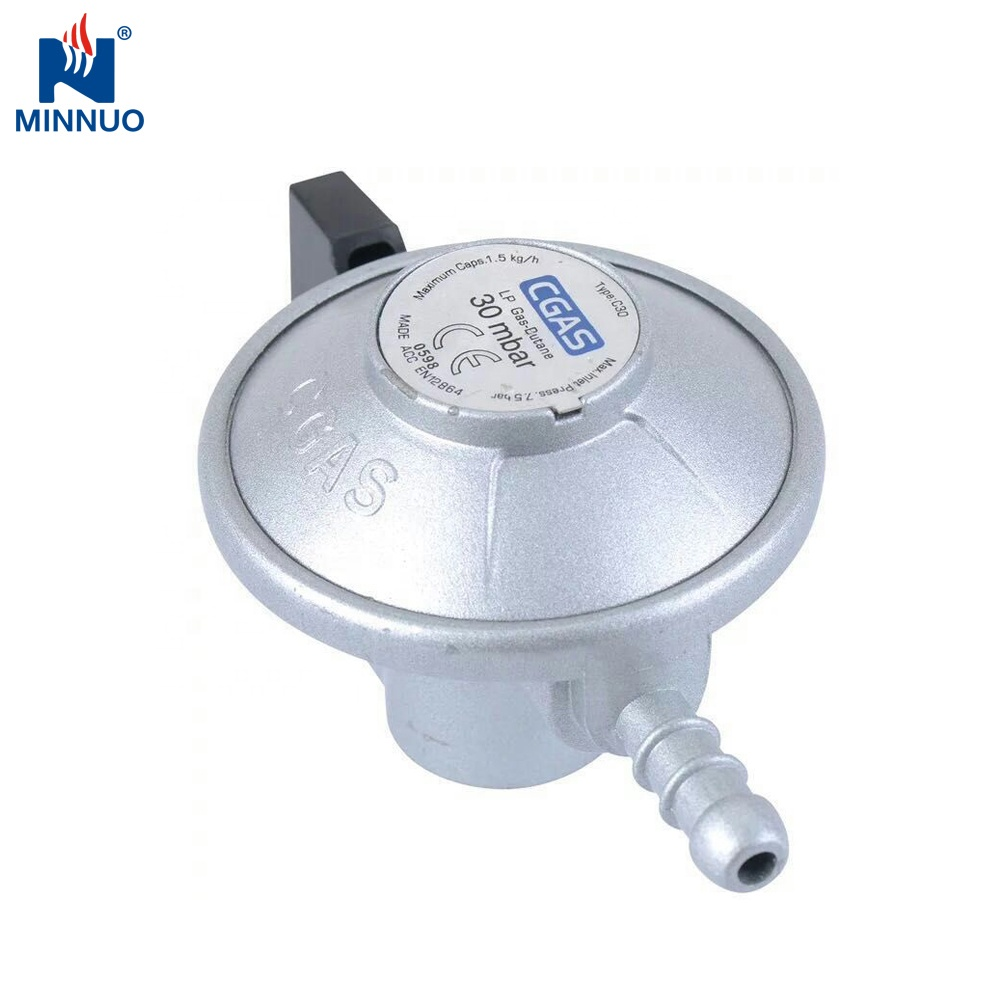 Economical customized design lpg adjustable cooking gas regulator with meter equipped for 9kg household <strong>cylinder</strong>