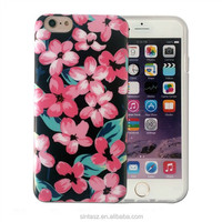 Ultra Thin Crystal TPU custom 3D Coloured drawing or pattern case for iphone 6 6s plus