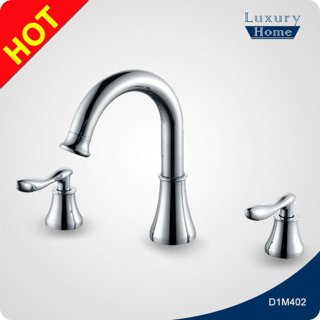 Chrome plating polished chrome basin double water tap faucet
