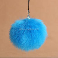 8cm wool ball pendant mobile phone chain key chain bag hang piece