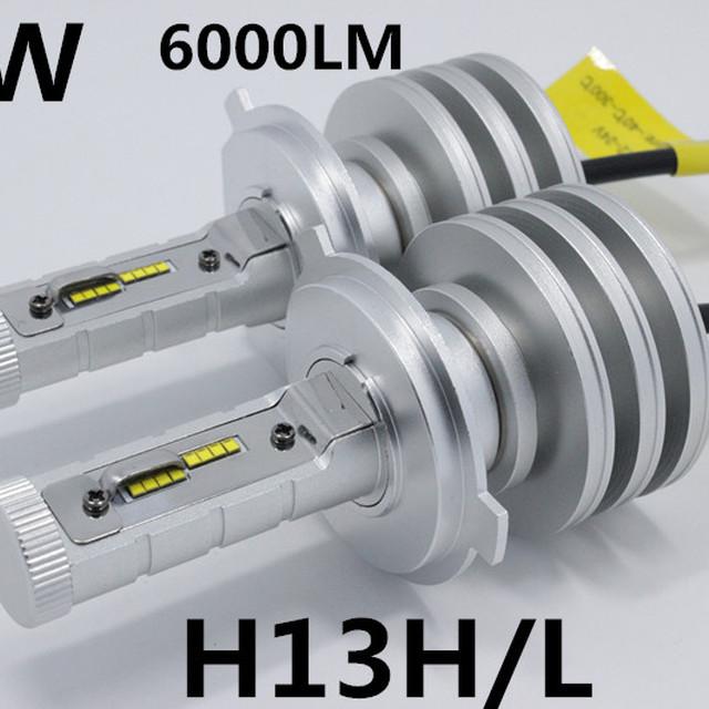 wholesale price New car PSP led headlight H4 9004 9007 H13H/L 50w led headlight 2400L led COB headlight