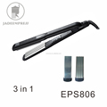 Best selling titanium iron black hair straightener curler crimper all in one for sale EPS806