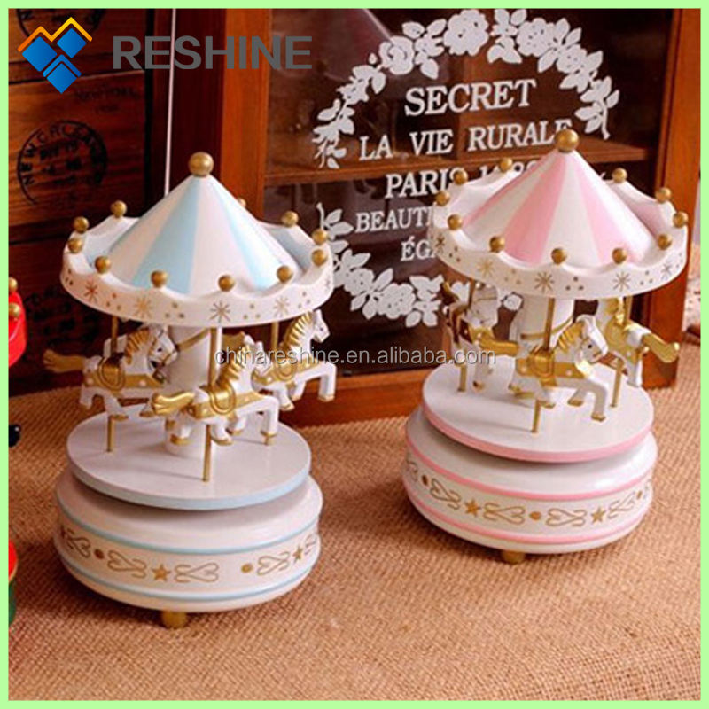 2016 top sale christmas carousel music box