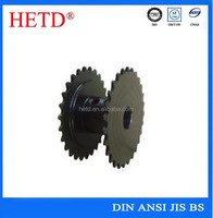 HETD OEM high quality with shaft black oxided surface treatment chain sprocket
