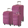 promotional sale 3 pcs 20 24 28 inch polyester travel bag luggage set for girls