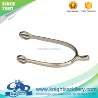Stainless Steel Round Strap Loops English Racing Spurs