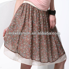 Pastoral small calico fabric chiffon maxi dresses for young hot girls in short skirts by China supplier