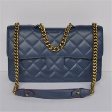 import wholesale classic quilted calfskin lady genuine leather designer handbag with OEM logos