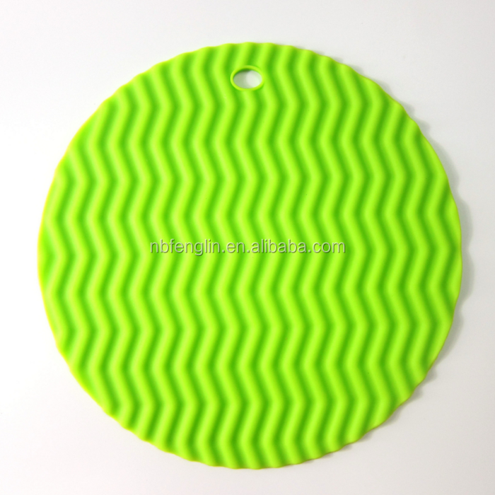 Household Kitchen Round Non-slip Heat Resistant Pad Silicone Table Mat