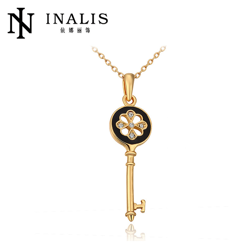 2014 Gold Plated Antique Key Pendant Necklace