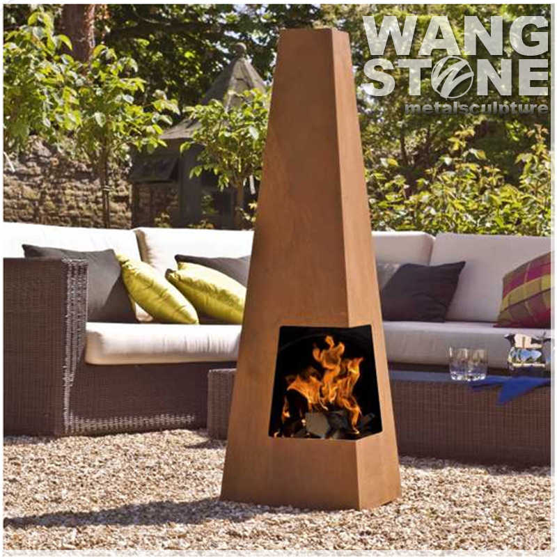 Outdoor Usage Standing Antique Fire Pit