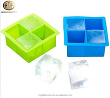 kitchen accessories unbreakable custom ice cube trays silicone set of 2