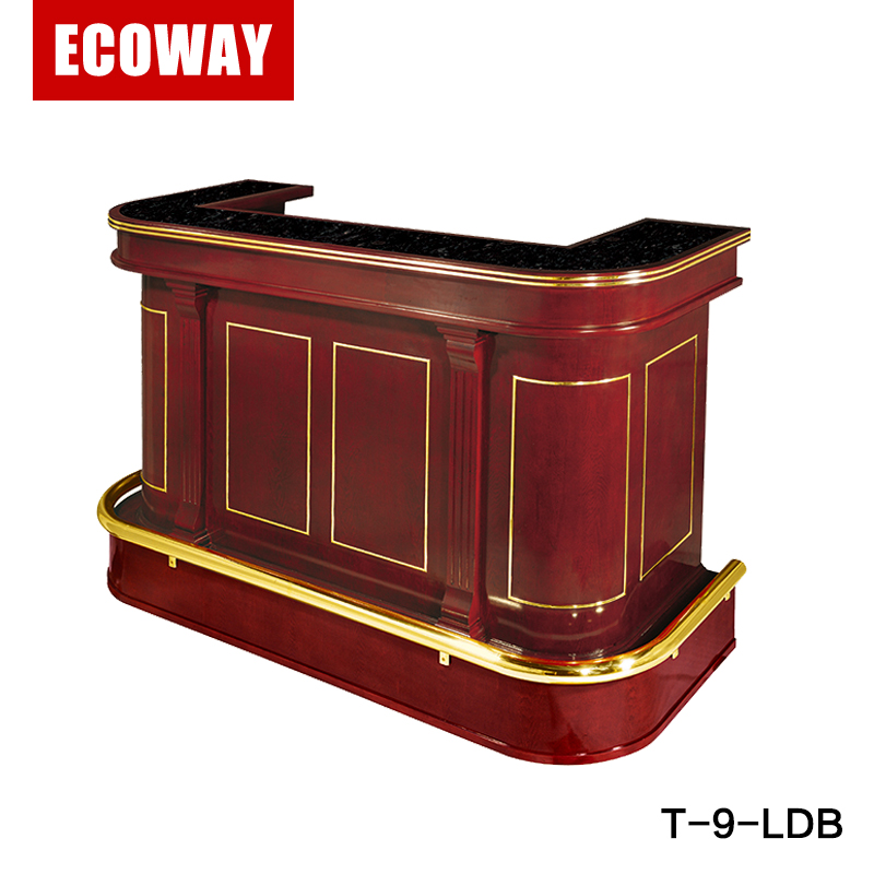 luxury wooden portable bar hotel reception counter design front desk