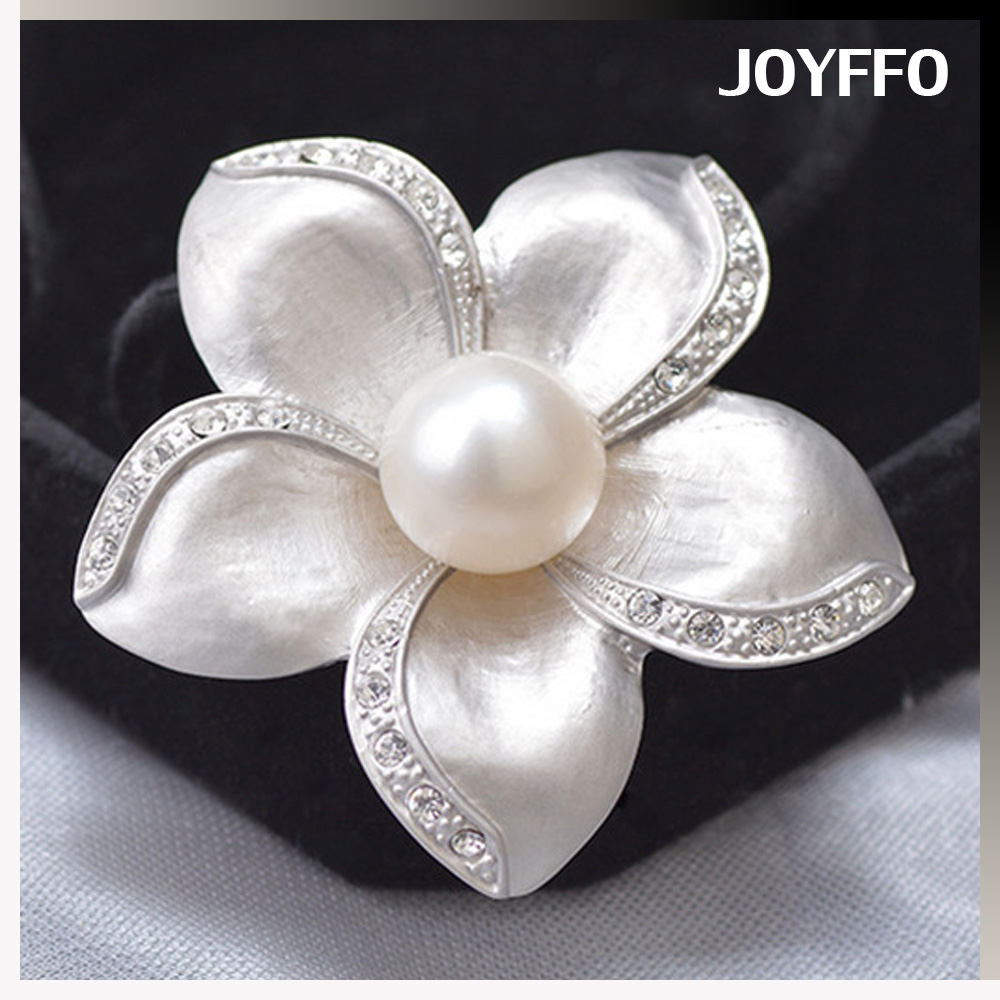 handmade natural pearl brooch pin exclusive originality jewelry wedding bridal bouquet brooches
