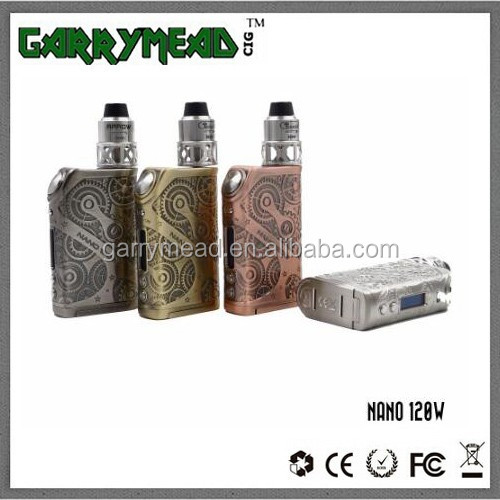 Garry mead wholesaleTesla Nano 120w Box Mod in Stock Side Filling Variable Colors tesla Nano 120W tc e-cigarette box mod 120W ec