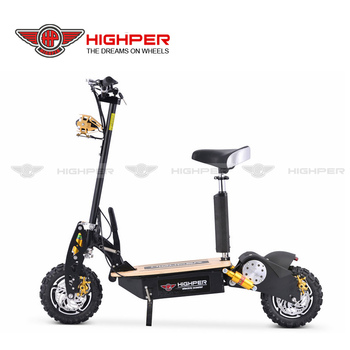 2000W 60V12ah Brushless motor folding electric scooter for adults (HP107E-C)