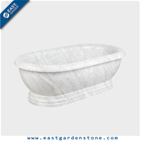 Classical Style natural stone tub white marble bathtub for sale