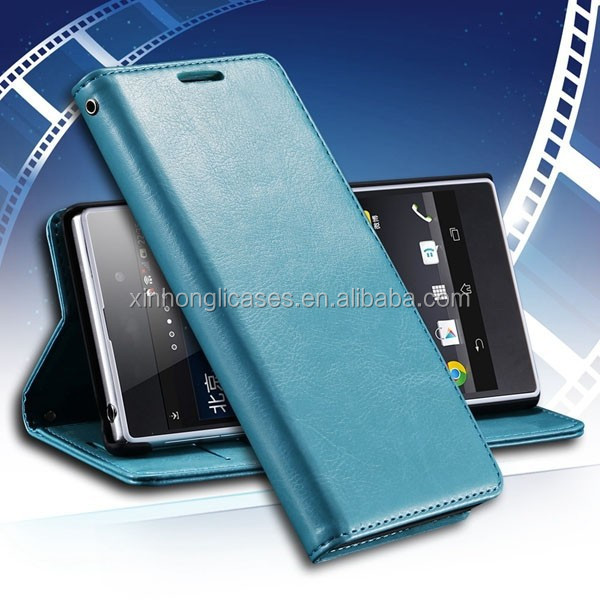 Luxury Retro Vintage Flip Leather Case For Sony Xperia Z2 C770x D6502 D650 D6503 L50W Stand Wallet Cell Phone Bag Cover