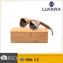 italian brand recycled skateboard natural wooden sunglasses