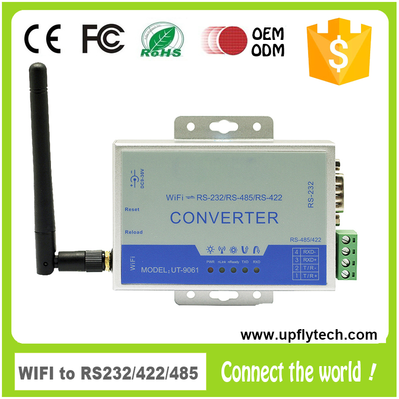 2016 High Speed RS-232 RS-485 RS-422 Wireless WIFI Serial Adapter
