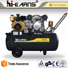 4KW portable one cylinder four stroke diesel engine air compressor