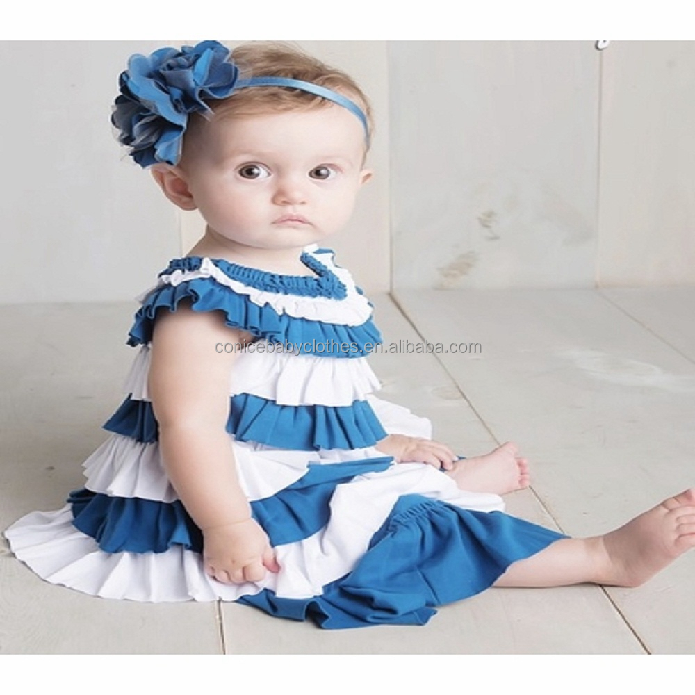 BOUTIQUE REMAKE TODDLER GIRL SUMMER RUFFLE CLOTHES KIDS DRESS