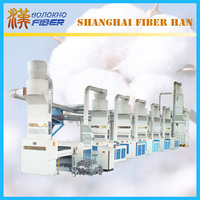 Fabric cotton waste recycling machine line, recycling machine