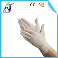 9 inches disposable household latex gloves